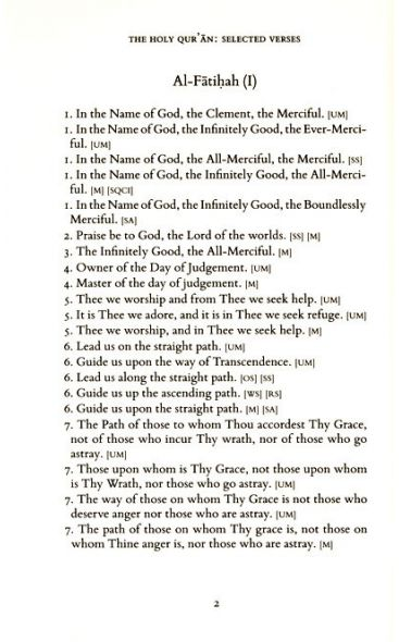 The Holy Qur'an: Translations of Selected Verses
