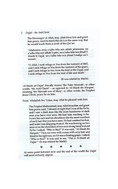 Dajjal: The Anti-Christ available at Mecca Books the Islamic