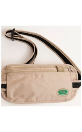 Hajj Safe - Anti-theft Hajj & Umrah Travel Waist Bag or Ihram Belt Muslim Pilgramage Bag Passport Money Purse