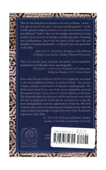 Al-Ghazali's Path To Sufism: His Deliverance from Error