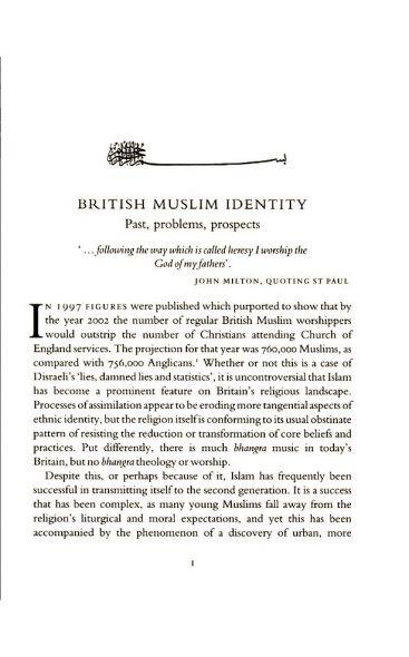 British Muslim Identity
