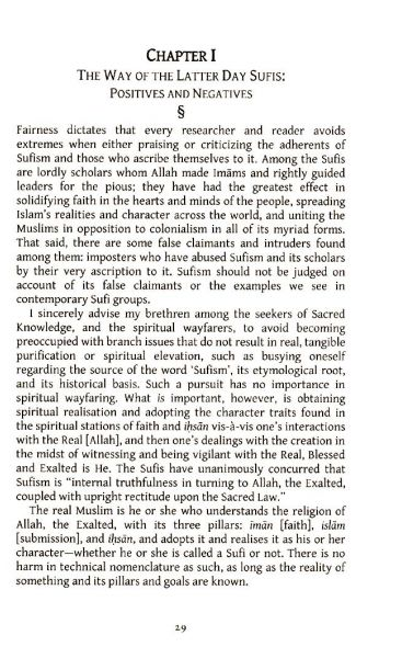 The Scholars of the Sufis - They are the Genuine Followers of the Salaf