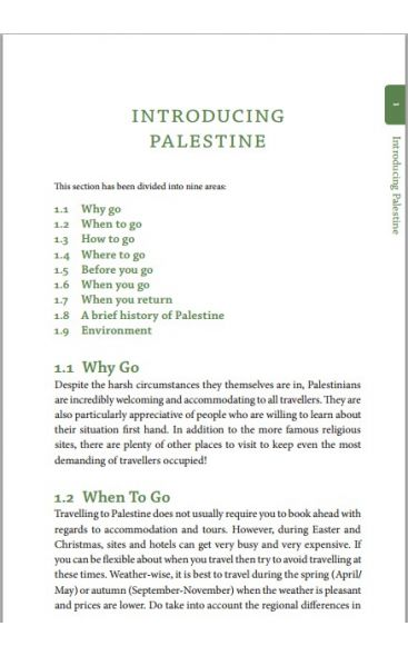 Huma's Travel Guide To Palestine