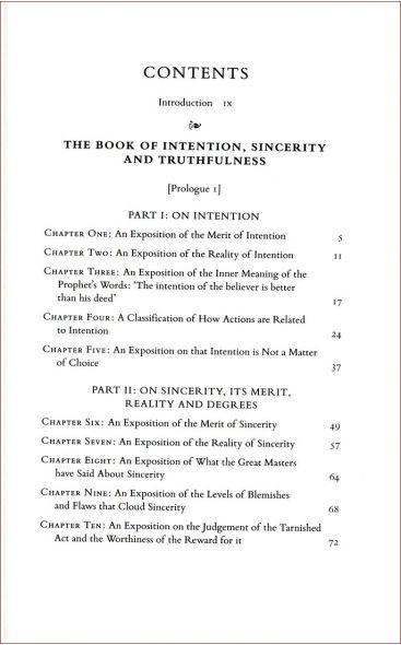 Al-Ghazali on Intention, Sincerity and Truthfulness