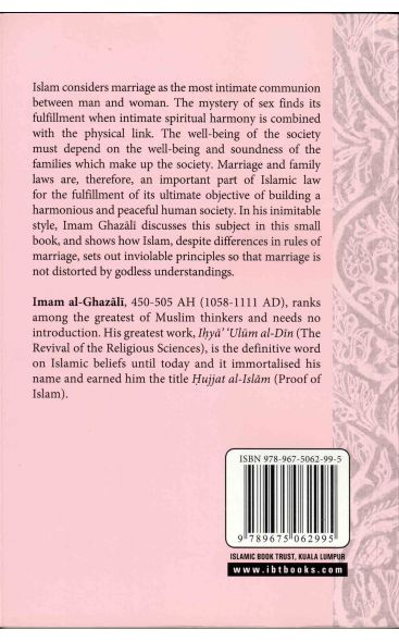 Al-Ghazali Marriage And Sexuality In Islam