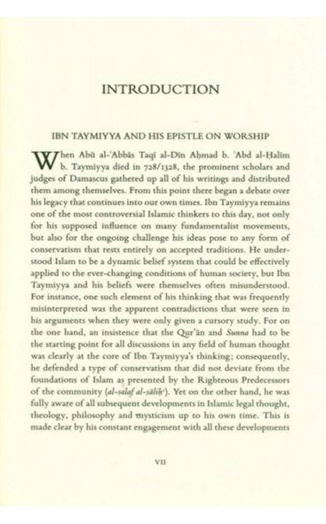 Epistle On Worship