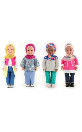 Layla, Nura, Maryam and Karima : 4 Doll Bundle