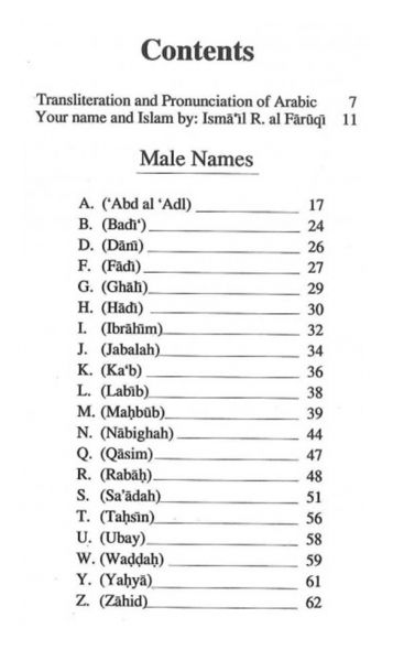 Digest of Muslim Names: Beautiful Muslim Names and Their Meaning