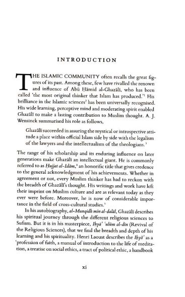 Al-Ghazali on Patience and Thankfulness Book XXXII of the Revival of the Religious Sciences (Ihya' 'Ulum al-Din)